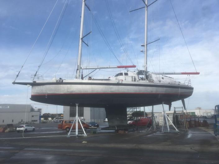 Calage de Grain de Sail à Lorient avec 4 Work'Up 20-43